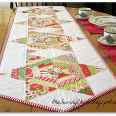 Christmas Stars Table Runner