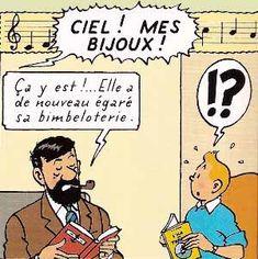 captain Haddock and Tintin at Marlinspike listening to Signora Castafiore • Tintin, Herge j'aime