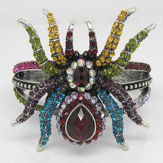 LOVE!!!!!!!!   http://www.ebay.com/itm/Spider-Bracelet-Bangle-cuff-W-swarovski-crystal-B257-/270627409134?pt=Fashion_Jewelry&hash=item3f02a68cee