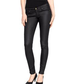 ultra-slim low-rise denim jeans with 5 pockets for $29.95