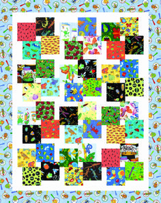 I Spy Veggie Stir Fry pattern Scrappy Quilt Patterns, Scrappy Quilts, Easy Quilts, Quilt Blocks, Kid Quilts, Small Quilts, Charm Pack Quilts, Charm Quilt, Quilting Projects