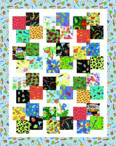 I Spy Veggie Stir Fry pattern Scrappy Quilt Patterns, Scrappy Quilts, Quilt Blocks, Charm Pack Quilts, Charm Quilt, Colorful Quilts, Small Quilts, Boy Quilts, Quilting Designs
