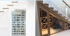 Aménagez votre cave à vin sous l'escalier. #escaliers #escaliersinterieur #rangement #décomaison #maisondecor #cellier