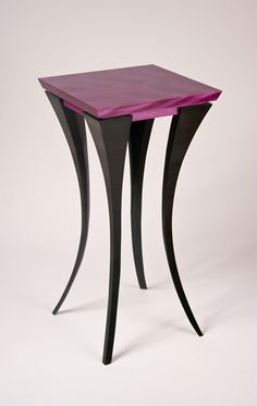 The Violet Table: Michael McCoy: Wood Side Table ~ Artful Home Woodworking Furniture, Handmade Furniture, Fine Furniture, Unique Furniture, Wooden Furniture, Table Furniture, Furniture Design, Center Table, Wooden Tables