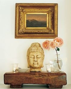 Buddha Head  East meets West Coast in this California house.