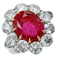 Aletto Brothers 8.66 Carats AGL No Heat Burma Ruby Diamond Platinum Ring