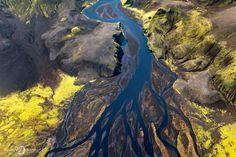 истории Истории : Завораживающие снимки Исландии с воздуха