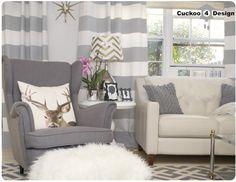 grey Ikea Strandmon chair with Overstock's Poolside Grey/Bone Indoor Outdoor Rug (8' x 11'2)