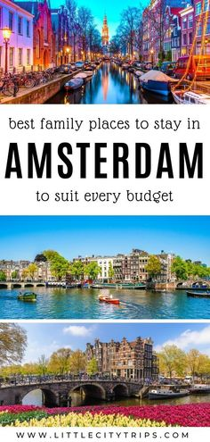 Planning a trip to Amsterdam with kids? Where do you find the best family-friendly hotels & accommodation in Amsterdam? An area guide plus our hand-picked favourites to suit every budget Amsterdam With Kids, Amsterdam Travel, Hotel Amsterdam, Europe Travel Tips, Travel Usa, Travel Destinations, Travel Guides, Usa Places To Visit, Places To Travel