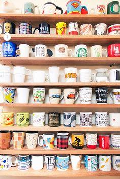 Coleção de canecas. Fotografia: Casa Aberta.
