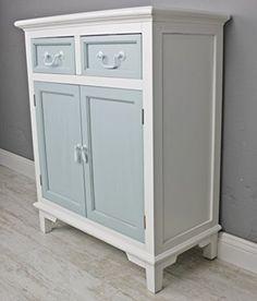 Büroschrank weiß antik  Kommode Schubladen Schrank weiß blau antik Landhaus NEU H... https ...