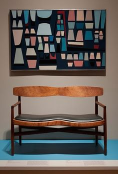 Wall art & bench /Sam Maloof;walnut bench