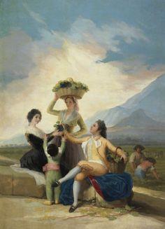 """Francisco de Goya: """"La vendimia, o El Otoño"""". Oil on canvas, 267,5  x 190,5 cm, 1786. Museo Nacional del Prado, Madrid, Spain"""