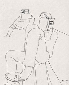 David Hockney line drawing. Even though this drawing doesn't have a lot going… Life Drawing, Figure Drawing, Drawing Sketches, Painting & Drawing, Art Drawings, Drawing Room, Drawing Faces, Drawing Tips, Bench Drawing
