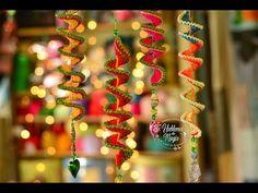 (Resorte o chuflin Navideño) paso a paso en crochet. - YouTube Fingerless Gloves Crochet Pattern, Crochet Poncho Patterns, Crochet Patterns For Beginners, Crochet Flower Scarf, How To Make Ornaments, Beautiful Crochet, Christmas Tree Ornaments, Wind Chimes, Free Crochet
