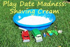 Our Homespun Haven: Play Date Madness: Shaving Cream