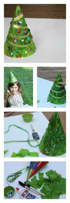 Christmas Tree Hat DIY