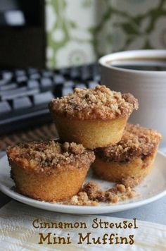 Cinnamon Streusel Mini Muffins are so simple and will fill your kitchen with a spicy sweet cinnamon aroma. by Tidestore Reviews