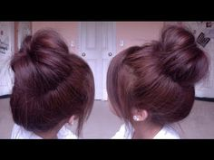 Korean Inspired High Bun - YouTube