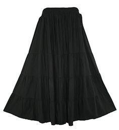 Beautybatik BOHO Gypsy Long Maxi Tiered Skirt *** For more information, visit image link.