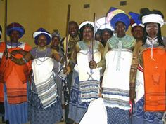 Xhosa women wearing traditional clothing incorporating Shweshwe and blankets Traditional Wedding, Traditional Dresses, Xhosa Attire, African Fashion, Women Wear, Textiles, Culture, Style Inspiration, American