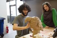Penn State Assistant Professor Shannon Goff's ART 230: Beginning Sculpture class creates self portraits with clay
