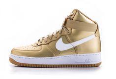 "Nike Air Force 1 High QS ""Liquid Gold"" http://SneakersCartel.com #sneakers #shoes #kicks #jordan #lebron #nba #nike #adidas #reebok #airjordan #sneakerhead #fashion #sneakerscartel"
