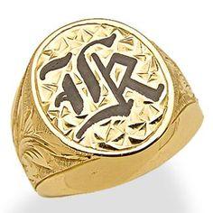 Hawaiian+Heirloom+Initial+Ring+in+14K+Yellow+Gold+-+Large