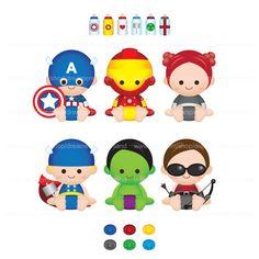 Printable Clipart Digital PNG File Superhero Super Baby Boy Girl 2