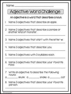 "Use this free worksheet to add a little fun to your ""Parts of Speech"" unit."