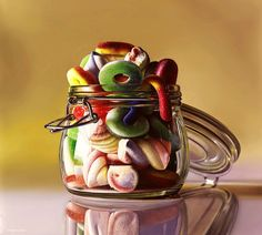 Yummy hyperrealistic paintings « Lososs