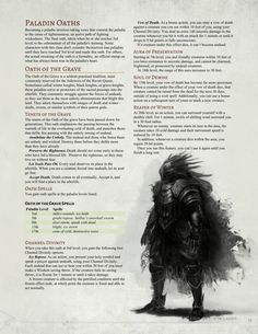 Oath of the Grave Paladin by Jonoman3000  Paladin of the Raven Queen?