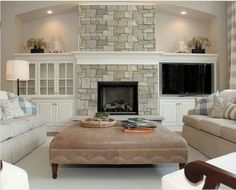 tv next to fireplace cathedral ceiling - Google Search