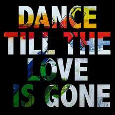 """Dance till the love is gone"" video flyer"