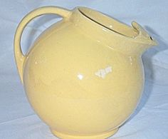 Vintage McCoy Pottery Yellow Ball Jug Pitcher review   buy, shop with friends, sale   Kaboodle