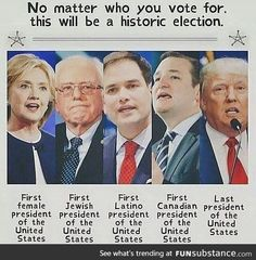 Historical election.