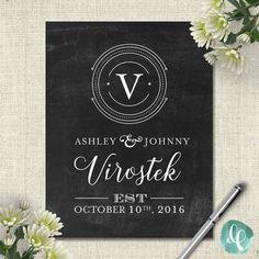 Custom Wedding Printable Signs / Wedding by liliumpixel on Etsy