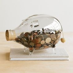Piggy bank glass