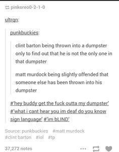 Matt Murdock and Clint Barton/Best fan fiction EVER