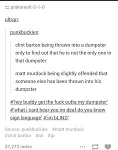 Matt Murdock and Clint Barton/Best fan fiction EVER