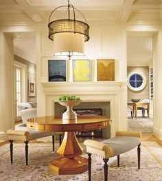 Traditional Entrance Hall by Thomas Pheasant in Bethesda, Maryland