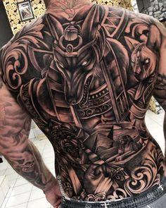 Back Piece Tattoo Men, Neck Tattoo For Guys, Leg Tattoo Men, Tattoos For Guys, Chicano Tattoos Gangsters, Gangster Tattoos, Egyptian Tattoo Sleeve, Realistic Tattoo Sleeve, Cool Shoulder Tattoos