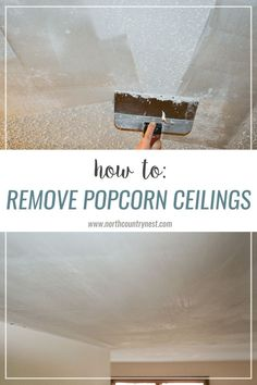 Removing popcorn ceilings can be compared to… well, nothing. However, if you're like us, you pretty much despise popcorn ceilings and will do just about … Toilet Cleaning, Deep Cleaning, Spring Cleaning, Cleaning Hacks, Removing Popcorn Ceiling, Popcorn Ceiling Makeover, Homemade Toilet Cleaner, Clean Baking Pans, Cleaning Painted Walls