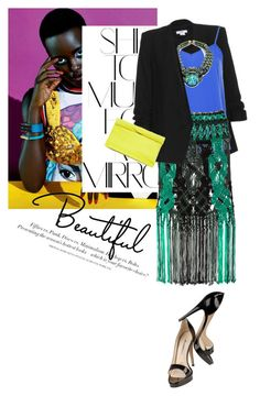 """""""Untitled #1271"""" by talita-roberto on Polyvore featuring Rika, Helmut Lang, Topshop, H&M, Proenza Schouler, DANNIJO and Brian Atwood"""