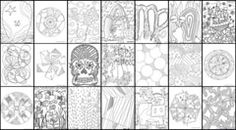 100's of free doodle coloring sheets