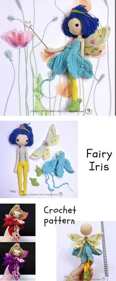 Beautiful pattern with so many detail, every piece is a work of art but with a very detailed instructions you'll be making tons in no time at all! #affiliatelink #crochetdoll #crochetpattern #fairy