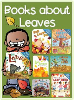 kindergarten ideas - Books about Leaves for Fall/Autumn. Here's a list of books about leaves- includes books with both Autumn and Fall references. Autumn Activities, Book Activities, Preschool Activities, Fall Preschool, Preschool Books, Preschool Seasons, Leaf Book, Fallen Book, Library Books