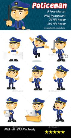 Policeman Illustration - People Characters
