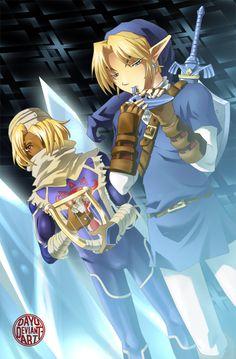 Zelda: Serenade of Water | Link and Sheik by Dayu