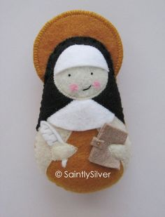 SaintlySilver the original Saint Softie...bringing Saints to life for over 8 years now! Pictured in the New York Times and The Catholic Year for